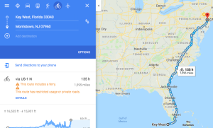 Google map of florida ride