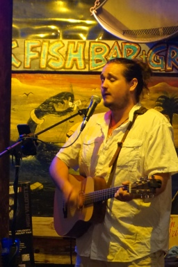Singer at Hogfish Bar in Key West